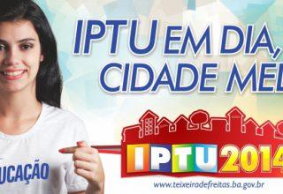 capa - campanha IPTU 2014